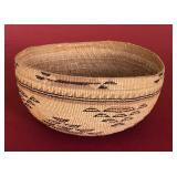 "Hupa Native American basket hat 3.5x7"""