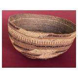 "Hupa Native American basket hat 4x7.5"""