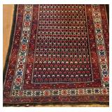 Antique Kurdish rug 4x7ft c.1915