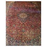 Antique Kashan Carpet 8x11ft c.1935