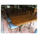 Antique Mahogany Clawfoot Dining Table