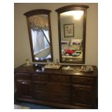 Dresser with Wall Mirrors
