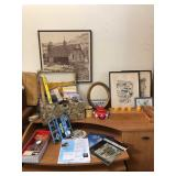 Sewing Supplies and Wall Art