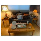 Love Seat, Coffee Table, Accent Tables