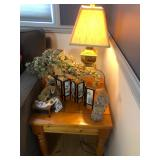 accent table and home decor