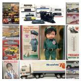 Vintage Toys, Collectables, Diecast Model Cars, MIlitary Memorabilia, Rare Art, Cowboys & Houston Rockets, Vintage Signs & MORE!!!