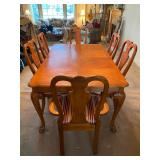 Master Home Furniture Co. Carved Wood Dining Room Table & 6 Chairs - $280 - 66