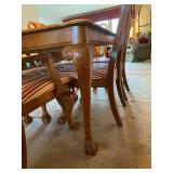 """Master Home Furniture Co. Carved Wood Dining Room Table & 6 Chairs - $280 - 66"""" Long x 42"""" Wide x 30"""