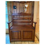 "Hall/Entryway Bench w/ Flip Top Storage - $150 - 34"" Wide x 38"" High x 20.5"" Deep"
