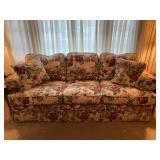 """La-Z-Boy Floral 3-Seater Sofa - $220 - 88"""" Long x 38"""" High x 40"""" Deep"""