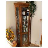 "Lighted Corner Curio Cabinet - $90 - 75"" High x 32"" Wide"