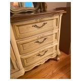 """Vintage Stanley Furniture French Provincial Canary Yellow Double Mirror 9-Draw Dresser - $360 - 73"""""""