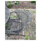 Wrought Iron Patio Set Table & 4 Chairs - $275