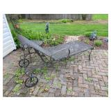 """Wrought Iron Lounge Chair & Side Table - $160 - 70"""" Long x 26"""" Wide"""
