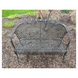 Wrought Iron Garden Bench - $80