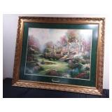 863126-Thomas Kinkade Print-Gardens Beyond the Gate