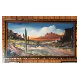Vintage painting on canvas large