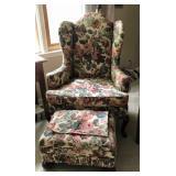 Modern floral print chair