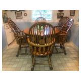 Round oak kitchen table