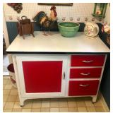 Vintage Enamel Top Cabinet