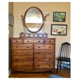Durham Chest with Mirror  Royal Cottage Collection