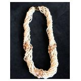 "18"" 10 Strand Torsade FW Pearl Necklace (60) 3mm 14k Beads 30 Blush FW 6mm FW Pearls 14k Clasp $125"