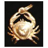 14kt Crab Charm 3.2gm $88