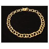 """14kt 7"""" Double Curb Charm Bracelet $170.99"""