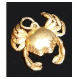 14kt Dungeness Crab Charm 3gm $82