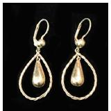 "14kyg Dangle Earrings, Lever Back, 2"" L, 5.1g; $118"
