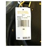 MICHAEL KORS RILEY Studded Leather Satchel, NWT, 12Hx6Dx12-14W $125 - Reserve $75