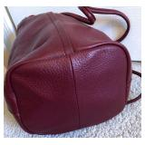 "CHRISTOPHER KON NWT Jam Leather Cross Body Drawstring Bucket, 18hx10wx5d, 12"" Strap Drop $95"