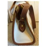 DOONEY & BURKE Pebble Leather Purse-Front Pocket-Shoulder Strap-Inside Pockets-$30