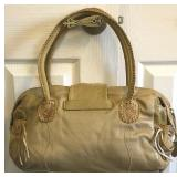 Vintage CARLOS CHI by Falachi Fawn Leather & Suedded Snake Skin Satchel $95