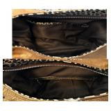 CHARLOTTE RUSSE NWT, 2 Tone Rhinestone Studded Hobo, Inner Pockets-Zip Close $35