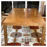 MID CENTURY BURL DINING TABLE