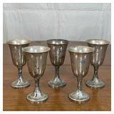 COLEMAN, ADLER & SON STERLING CUPS