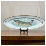 FRENCH PAINTED FISH PLATE