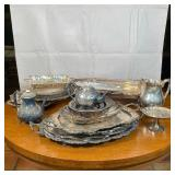 ESTATE LOT of SILVERPLATE ITEMS