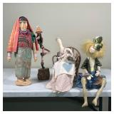 (4pc) MISC DOLL FIGURES