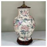 CHINESE PAINTED PORCELAIN LAMP