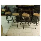 Bar Chairs (1) 3 pc. Beige $30 & (1) 2pc Beige $20.00