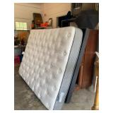 Queen Size Serta Adjustable Bed (Head & Feet adjust) with Simmons Mattress Like new. Available Now!