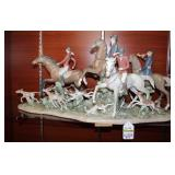 D54 #7 Fox Hunt Lladro Limited Edition (1,000) #5362 Retired 2014*Has Been Repaired*