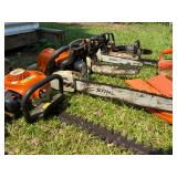 chainlink fenceStihl and Husqvarna chainsaws