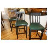3 highboy / bar chairs
