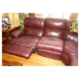 HOLLBERGS Leather reclining sectional