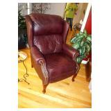 LANE Burgundy leather recliner