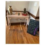 whitewash entry table / desk