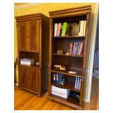 Havertys Cherry book shelves